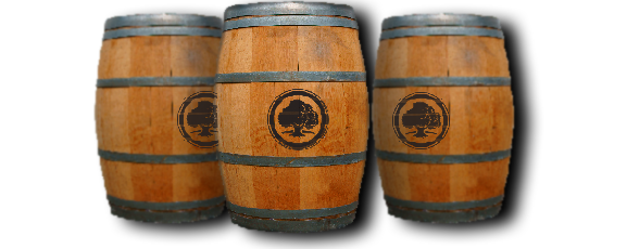 Wooden beer barrels
